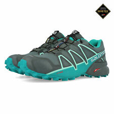 Salomon Womens Speedcross 4 GORE-TEX Trail Running Shoes Trainers Sneakers Grey