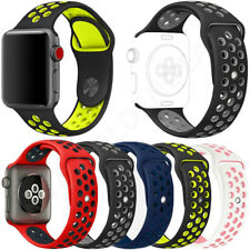 Replacement Silicone Sport Band Strap For Nike+ Apple Watch 1234 iWatch 38/42mm
