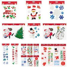 Christmas Santa Gel Window Stickers Colored Gingerbread, Large Window Plaques