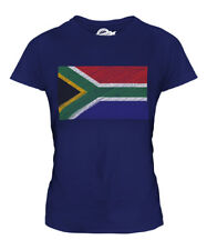 SOUTH AFRICA SCRIBBLE FLAG LADIES T-SHIRT TEE TOP GIFT SUID-AFRIKA AFRICAN
