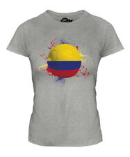 COLOMBIA FOOTBALL LADIES T-SHIRT TEE TOP GIFT WORLD CUP SPORT