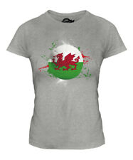 WALES FOOTBALL LADIES T-SHIRT TEE TOP GIFT WORLD CUP SPORT