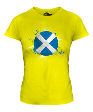 SCOTLAND FOOTBALL LADIES T-SHIRT TEE TOP GIFT WORLD CUP SPORT