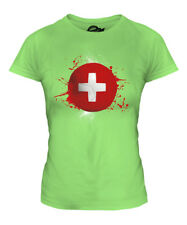 SWITZERLAND FOOTBALL LADIES T-SHIRT TEE TOP GIFT WORLD CUP SPORT