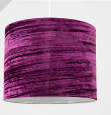 Crushed Velvet Light Lamp Shade Various Colours Small 25cm Wide NEW