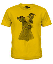 JACK RUSSELL TERRIER SKETCH KIDS PRINTED T-SHIRT TOP GREAT GIFT FOR DOG LOVER