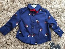 PRIMARK BABY BOYS DISNEY MICKEY MOUSE SHIRT AND BOW TIE BNWT ALL AGES XMAS