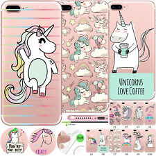 Unicorn Patterned Slim TPU Case Ultrathin Cover For Apple iPhone Max XR 8 7 Plus