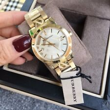 Burberry Watch BU9145 For Women's Swiss Dial The City Gold 34mm Stainless Steel