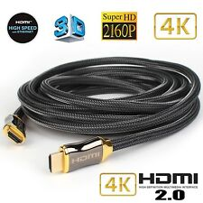 Braided Ultra HD HDMI Cable v2.0 High Speed Ethernet HDTV 2160p 4K 3D  PS4 LOT