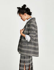 Zara Oversized Checked Boxy Jacket Blazer Shoulder Pads M (One Size) BNWT