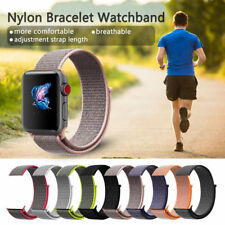 Woven Nylon Sport Loop Bracelet Band Strap For Apple Watch iWatch Series 3/2/1