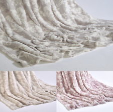 luxury Floral Super Soft Plush Throw Sofa Bed Fleece Mink Blanket 150x200cm