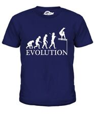 Barras Paralelas Evolution Of Man Infantil Camiseta Top Regalo Atletismo