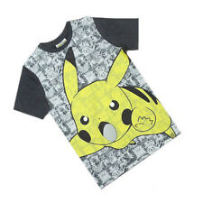 Pokemon Pikachu Fumetto / Anime Striscia Grigio Top T-Shirt Manica Corta