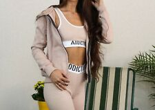 Addiction Ladies Fitted Hoodie Nude Womens sweatshirt Jumper Fashion H&M Style