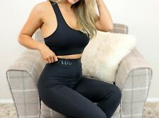 Addiction Ladies Black Bra Piece Crop Top loungeWear Tracksuit Fashion H&M Style