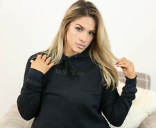Addiction Ladies Cropped Hoodie Black CropTop Crop Jumper Fashion H&M Style