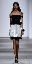 Topshop by Unique Runway Metallic Pleated Dress UK 6 8 10 12 14 16 Party Event