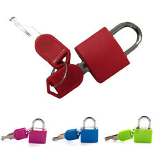 NEW Candy Color Small Mini Strong Steel Padlock Travel Suitcase Lock with 2 Keys