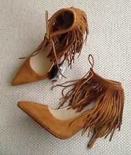 ZARA REAL SUEDE LEATHER HEELS ANKLE BOOTS SHOES UK 4  EUR 37 UK 6 EUR 39 NEW