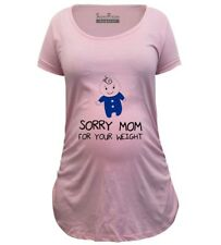 Pregnancy Shirts Maternity T shirts Top Tunic Clothes Sorry Mom Funny Maternity