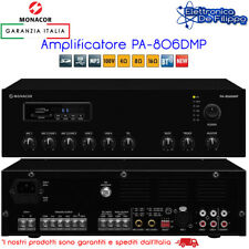 Amplificatore Audio 100V con MP3 Tuner FM e Bluetooth Monacor PA-806DMP