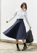"JW Anderson x Uniqlo Quilted Midi Wide Full Flared Skirt Navy Blue 25"" 26"" 27 """
