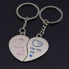 Novelty Statement Couple pair Keychain for Lovers Heart Keyring Gift