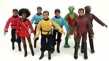 "1974 STAR TREK 8"" mego playmates figure -- Kirk Spock -- SHIRT PANTS BELT PHASER"