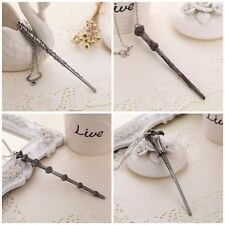 Harry Potter Hermione Dumbledore Lord Voldemort Magic Wand NECKLACE XMAS
