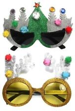 Glitter Party Glasses Christmas Tree or Reindeer Deluxe Xmas Fancy Dress Novelty