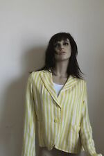 Giacca donna jacket woman MISS MISS colore giallo-bianco a righe taglia M-L