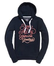 Superdry Womens 67 Genuine Fade Embroidery Hoodie in Navy or Pink