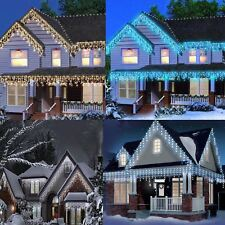 CHRISTMAS 480/360 LED ICICLE SNOWING XMAS CHASER LIGHTS OUTDOOR INDOOR FAIRY TRE