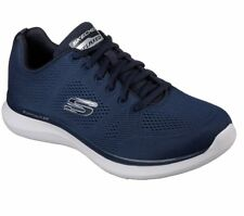 SCARPE SKECHERS UOMO MEMORY FOAM AIR COOLED RELAXED FIT 52389 BLU NAVY ROOD GRAY