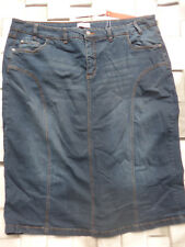 Sheego Elasticizzato Gonna Jeans Gonna in Jeans Tgl 52 Blue (145) Nuovo
