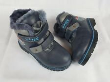 Boys Kids Warm Winter Fur Lined Boots Shoes Snow Boots Size Junior Size 10-13.5