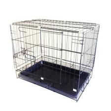 Pet Dog Carrier Folding Dog Cat Crate Cage Kennel w/ Tray Carrier