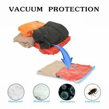 Vacuum Storage Bag Suction Compression Clear Clothes Dust proof Space Saver 520
