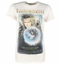 Official Women's Labyrinth Movie Poster Rolled Sleeve Boyfriend T-Shirt