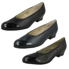 Ladies Equity Felicity Low Heel Wide Fitting Court Shoes
