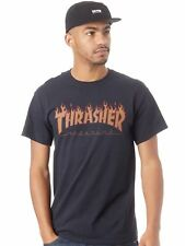Thrasher Black Flame Halftone T-Shirt