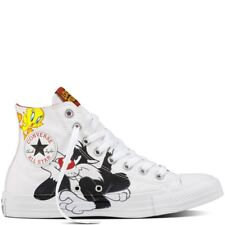 bdd18c21c5b7 NEW Converse Chuck Taylor All Star Hi Looney Tunes Sylvester Tweety Womens