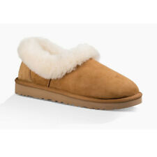 New UGG Womens NITA CHESTNUT Sheepskin Cuff Slippers US W 5 - 8 TAKSE