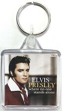 Elvis Presley Classic Album Covers Square Keyring - Where No One Stands Alone