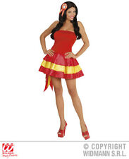 Ladies Miss Spain Costume Latin American Mexican Spanish Fancy Dress Outfit