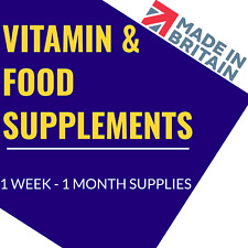 Vitamins & Food Supplements 1 Month Supply UK Made GMP Certified