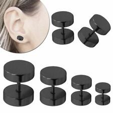 Fakeplugs Fake-Tunnel Piercing Ohrstecker Ohrring Schwarz 6 8 10 12 14 16 18 mm