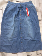 Sheego Donna Gonna Jeans Gonna in Jeans con Bottoni Tgl 44 Blu Toni (089) Nuovo